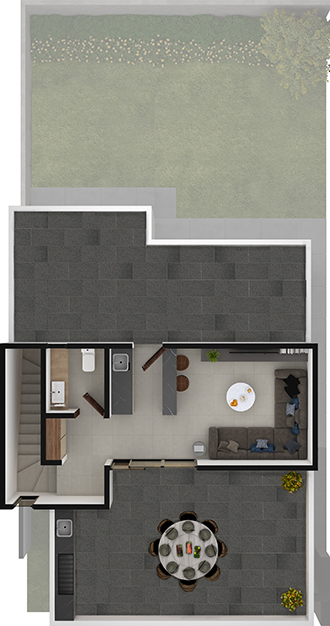 Planta tercera de residencia modelo Duna en Alyssa Residencial