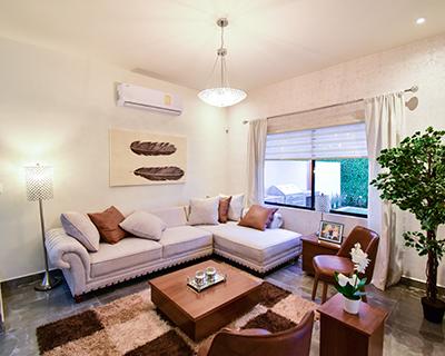 Sala de casa en Saltillo norte modelo Duna