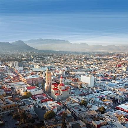 Vista aérea de la ciudad de Saltillo Coahuila